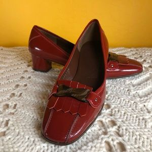 NWOB SALVATORE FERRAGAMO Red Patent RAISSA